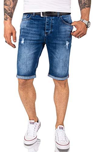 Rock Creek Herren Shorts Jeansshorts Denim Short Kurze Hose Herrenshorts Jeans Sommer Hose Stretch Bermuda Hose RC-2218 Blau W36