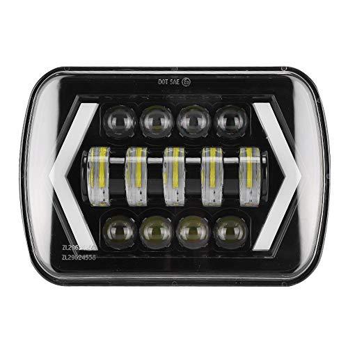 Qiilu Koplamp 210W 6000K 21000LM H4 LED-koplamp IP67 Koplamp Geschikt voor Cherokee XJ 12-24V