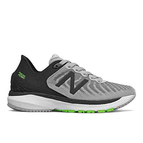 New Balance Fresh Foam 860 V11 Running Shoe, Light Aluminum/Black, 10.5 Wide US Unisex Little_Kid