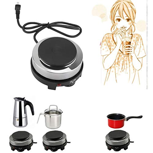 ☀ Dergo ☀Electric furnace ,220V 500W Mini Electric Stove Hot Plate Multifunction Portable Kitchen Heater US
