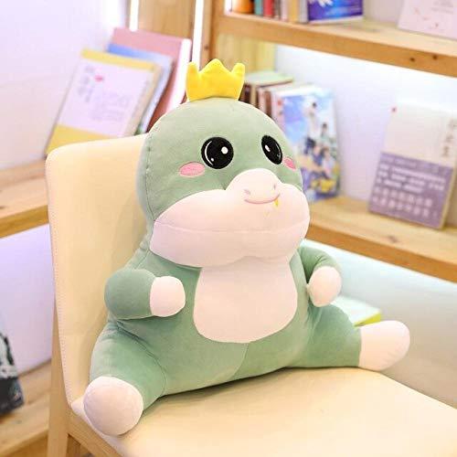 hokkk Cartoon Animal Pillow Fully Stuffed Sitting Duck Dinosaur Duck 58 * 42cm Children Adult Chair Seat Decor Plush Pillow 42cm D