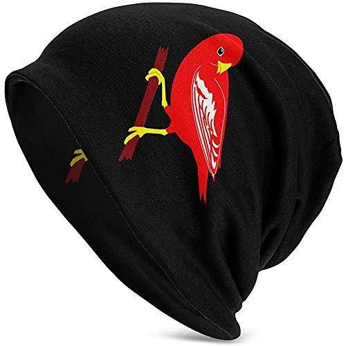 Mathillda mannen en vrouwen muts hoed kardinalen vogel noorden kardinaal Roman winter warme gebreide muts