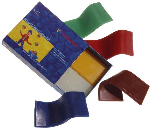 Stockmar 51000 - Knetbienenwachs, 100 x 40 mm, 6 Farben