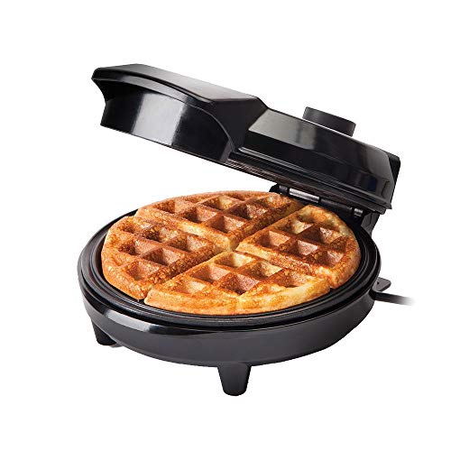Global Gourmet by Sensiohome American Waffle Maker Iron Machine 700W I Electric I Stainless Steel Mould I Non-Stick Coating I Recipes I Deep Cooking Plates I Adjustable Temperature Control - Black