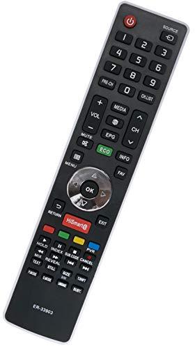 ALLIMITY ER-33903HS Control Remoto reemplazado por Hisense TV 50K220 LHD24K300WSEU LHD29K300WSEU LHD32K160 LHD32K160WSEU LHD32K166WSEU LHD32K20DW LHD32K20DWEU LHD32K20SEU LHD32K366WSNEU