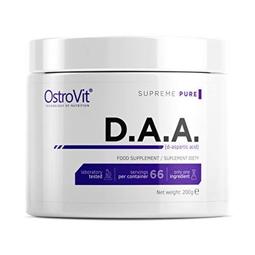 DAA 200g Ácido D-aspártico | Potenciador de testosterona incondicional | Apoyo hormonal | Crecimiento de masa muscular | Polvo anabólico | Suplemento alimenticio