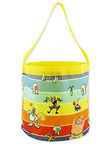 Spongebob Squarepants Boys Girls Collapsible Nylon Gift Basket Bucket...