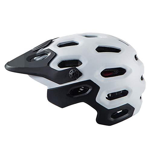Casque de vélo Yuan Ou Casque De Sécurité Bike Super Mountain Hors Route 56-62CM Noir et Blanc