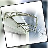 ひさしっくす おしゃれ庇 、 ひさしドア キャノピー トランスペアレント モダン ポリカーボネート ドアキャノピー、 雪雨VU保護、 深さで 60/80 / 100cm ブラケット (Size : 100x200cm)