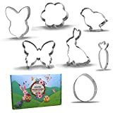 Large Spring Easter Cookie Cutter Set - 7 Piece - Stainless Steel