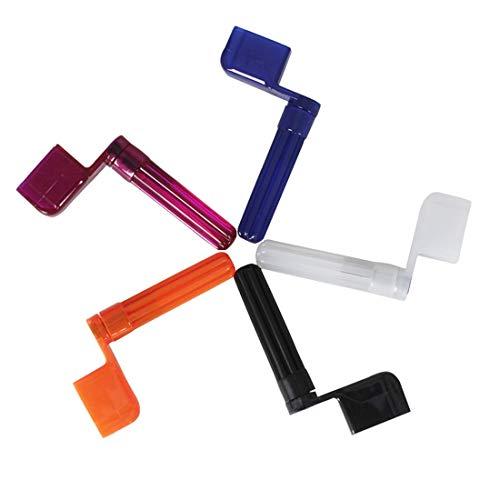 Bester der welt 5PC Winder ABS Kunststoff Winde 360 Grad rotierendes Gitarren-Stimmwerkzeug