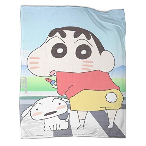 STTYE Geeignet für Sofa, Stuhl, Sofa und Bett, Buntstift Shin-Chan für Bett/Couch/Sofa/Büro/Camping. 150 x 200 cm.