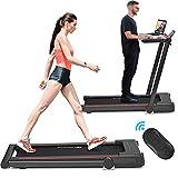Goplus 3-in-1 Treadmill with Desk, 2.25HP Folding Electric Treadmills,...