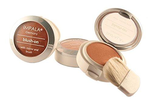 Impala Fard in polvere con specchio e pennello 04 Rosa salmone