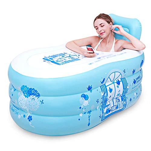 YWSZJ Bañera Inflable portátil bañera de hidromasaje ambientales tinas portátiles for Adultos portátil Tina de baño Bañera Cuarto de baño for un Adulto, Azul