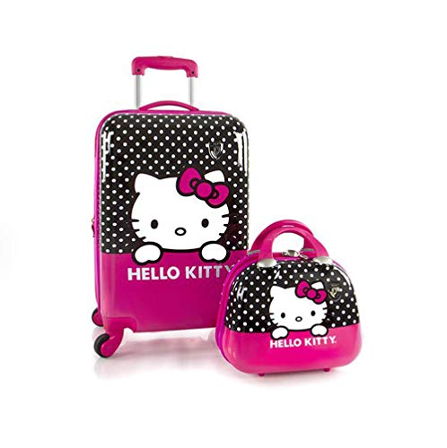 Heys America Hello Kitty 21-Inch Spinner Luggage and Beauty Case Pink (One Size)