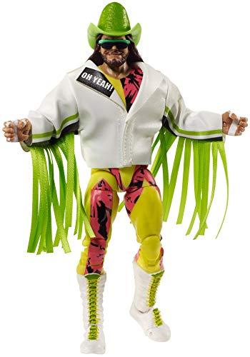 WWE Ultimate Edition 'Macho Man' Randy Savage figura de acción, 6-en/15,24 cm, con cabezas intercambiables, manos intercambiables y equipo de entrada para edades de 8 años y más