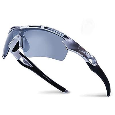 XR Unisex Polarized Sports Sunglasses for Men Women TR90 Ultra Lightweight Unbreakable Frame 100% UV Protection