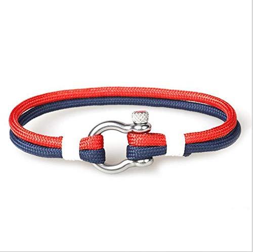 NKSS Mens Bracelets Bracelet Braided Rope Stainless Steel Buckles Survival Bracelets For Men Women-7