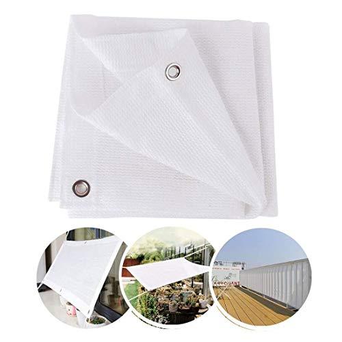 White Sunscreen Cloth Shade Netting 2x2m 5x3m Sunshade Fabric Sunshade 90% UV Shade Sail Protective Canvas For Garden Greenhouse Barn Balcony Patio Pergola Shade Awnings ( Size : 1.5*2M(4.9*6.6ft) )