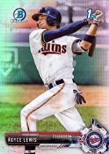 2017 Bowman Draft Chrome Refractor #BDC-1 Royce Lewis Baseball Card - 1st Bowman Chrome Card