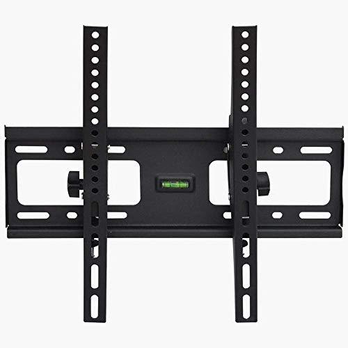 TV-väggsängstativ i rostfritt stål för de flesta 32-70 tum platta böjda TV-apparater, hörn-TV-väggskåp upp till 60 kg lutningshöjdjusterbar, max VESA 600x400mm