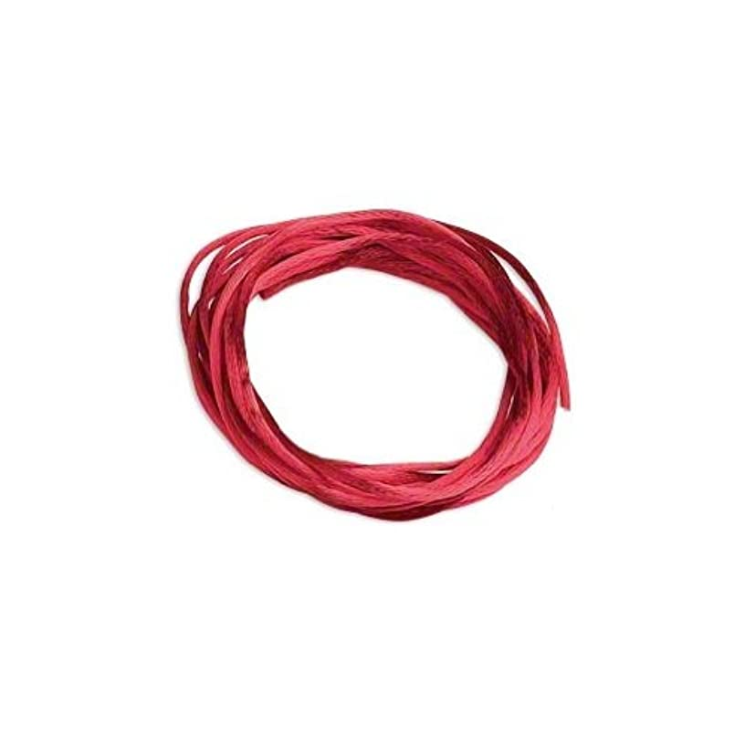Satin Bugtail Cord Red 1mm. Section of 5 meters / 5.4 Yards.