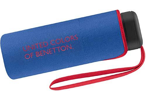 Paraguas Ultra Mini Mujer Manual United Colors of Benetton, Ocho Varillas, 88 cm de diámetro. Color Azul.