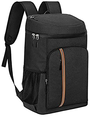 NUHOAO Cooler Backpack, Leakproof Insulated Backpack Cooler, 30 Cans Lightweight Backpack Coolers for Men Women, Soft Cooler Bag for Lunch Beach Camping Picnic Hiking Park Work