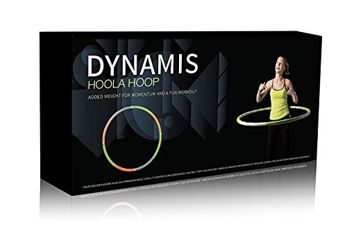 Dynamis Fat Burning Weighted Hoola Hoop - Fitness Exercise Hoop - Abdominal and Sports Core Trainer for Stamina (3.6 pounds)