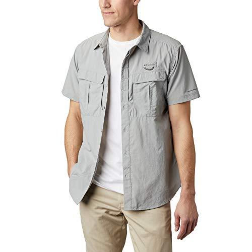 Columbia Cascades Explorer, Camisa de manga corta, Hombre, Gris (Columbia Grey), Talla XL
