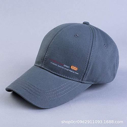 JXFM Langer Hut 檐 Baseballmütze Baumwolle schwarz Flut Sonnenblende Golf Ente Zunge Hut Männer und Frauen erhöhen graue Trompete (56-59)