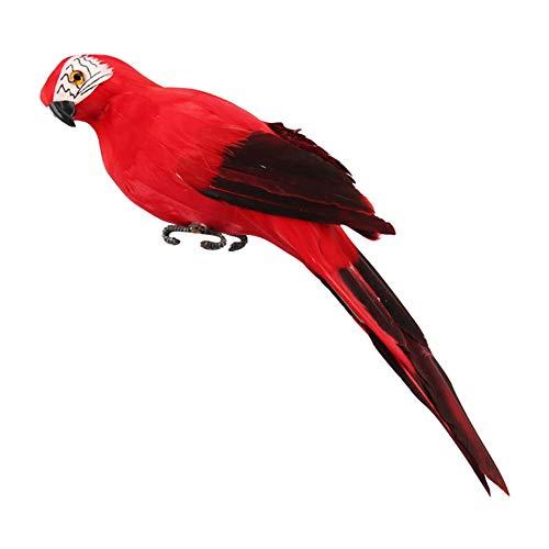 Yalatan Simulación Papagayo, escaparate jardín Trabajo Decorativo pájaro Jardín Decoración para ofrecer...