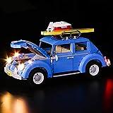 Kit de iluminación LED compatible con LEGO 10252, Kit de iluminación para Technic City Car Beetle Modelo Bloques de construcción Regalos de ladrillos para niños y adultos (no incluido el modelo LEGO)