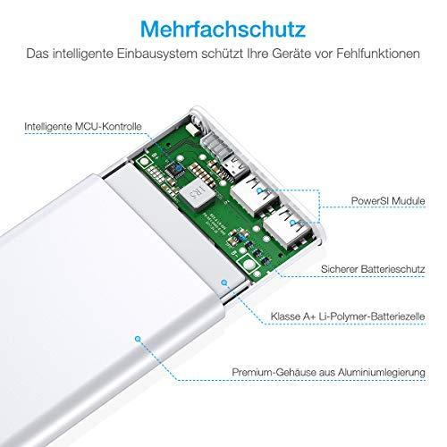 Poweradd Pilot 2GS Powerbank 10000mAh mit Alugehäuse und Automatische Erkennung Techologie für Ladung des Smartphones - 6