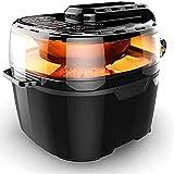 lyyjiaju cucina friggitrice ad aria calda 10.0l aria elettrica elettrica friggitrice extra grande capacità 10.0 qt air friggitrici e accessori aggiuntivi, ricette, 1350w