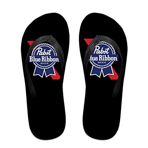 Aiier Pa-BST Blue Ri-Bbon Bier Logo Herren rutschfeste Flip Flop Hausschuhe Beach Thong Sandale