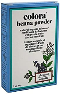 Sponsored Ad - Colora Henna Powder Hair Color Chestnut 2 Ounce (59ml) (6 Pack)
