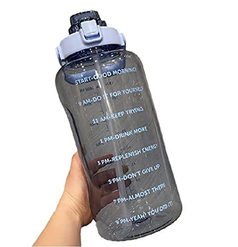SDGSDG Protección del medio ambiente Botella deportiva sin BPA/Tick-blue_2000ml de gran capacidad/ Botella de agua deportiva para gimnasio, viajes, oficina