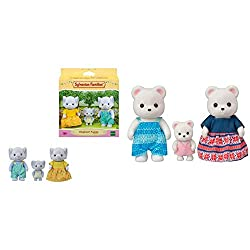Product 1: Elephant Family posable collectable figures Product 1: Three piece set: Father, mother and baby Product 1: Dressed in removable fabric clothing Product 1: Stimulates imaginative role-playing by children Product 2: Polar Bear Family posable...