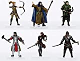 Characters of Adventure - Human Adventurers Party of 6 - Plastic Miniatures for D&D or Pathfinder