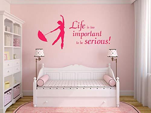 Life is Too important - Adhesivo decorativo para pared (120 x 57 cm), color limón