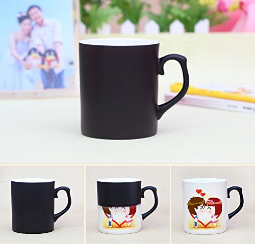jiangu, China color taza, personalizados, personalizado par de fotos creativo regalos, taza Mágica, taza DIY Photo negro
