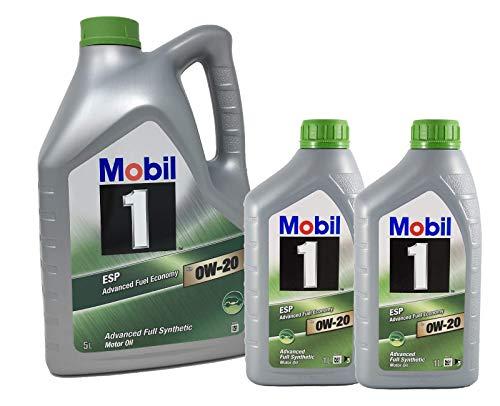 Mobil 1 Öl für Motor ESP x2 0W-20 Advanced Kraftstoffverbrauch, Pack 7 LTS