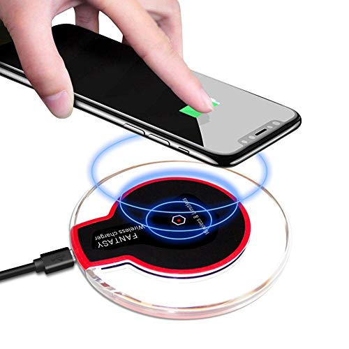 Wireless Charger , Qi-Certified 10W Max Fast Wireless Charging Compatible with iPhone 11/11 Pro/11 Pro Max/Xs MAX/XR/XS/X/8 Plus, Galaxy Note 10/Note 10 Plus/S10/S10 Plus/S10E for All Qi-Enabled Phone
