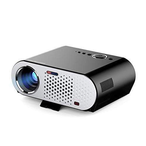 Proyector de Video, GP90 Proyector portátil de Cine en casa HD 1080p para Cine en casa/Entretenimiento / Película/Fiesta / Juego con Interfaz HDMI/VGA Conecte la computadora