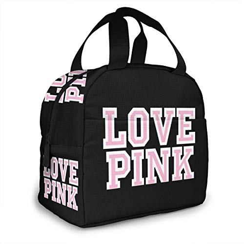 ~ Victoria Secret Love Pink Portable Insulated Lunch Bag Waterproof Tote Bento Bag Lunch Tote