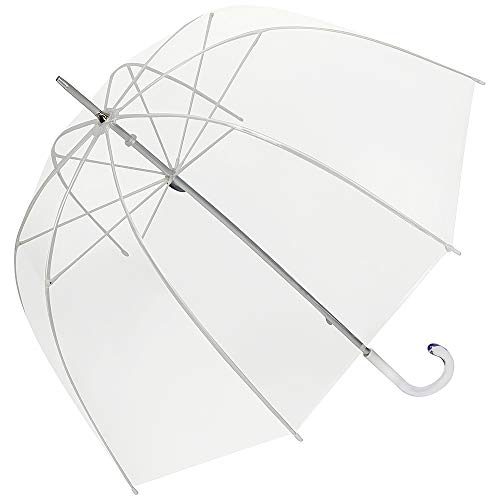 VON LILIENFELD Regenschirm Stockschirm Transparent Durchsichtig Damen Herren Melina