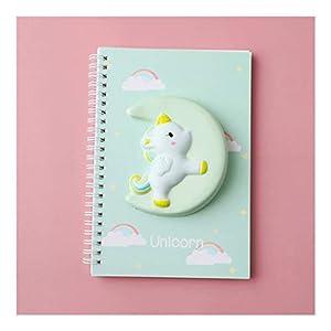 Cuadernos Descomprimir el Notebook, PU A6 espiral Encuadernación cubierta suave Diario Mini Bloc de notas, hojas de 80 142 * 208mm 5.5 * 8.1 Papel gobernado Paperback blocs de notas ( Color : Green )