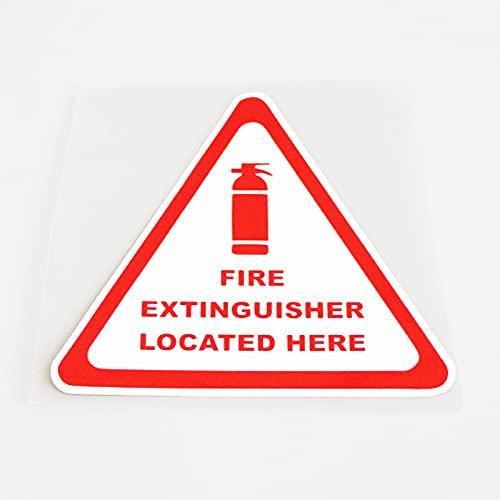 XLYDF El extintor de incendios 11.5cm * 10.5cm se encuentra aquí.Calcomanías de pegatina de coche de PVC.